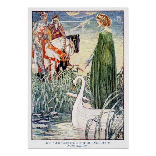 King Arthur and the Lady of the Lake Posters