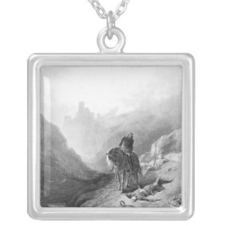 King Arthur discovers the Skeletons Silver Plated Necklace