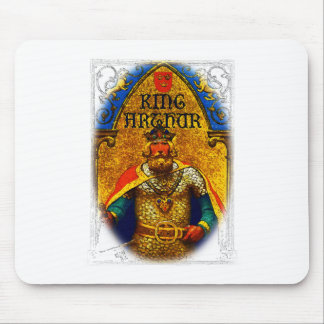 King Arthur Enthroned Mouse Pad