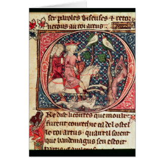 King Arthur Hunting, from the 'Romance of Merlin' Card
