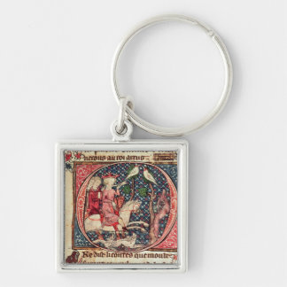 King Arthur Hunting, from the 'Romance of Merlin' Key Ring