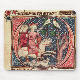 King Arthur Hunting, from the 'Romance of Merlin' Mouse Pad