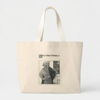King Arthur of Britain Large Tote Bag