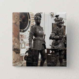 King Arthur, statue from the tomb of Maximilian 15 Cm Square Badge
