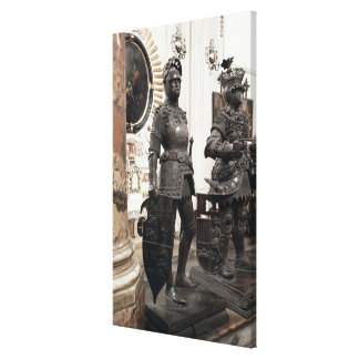 King Arthur, statue from the tomb of Maximilian Stretched Canvas Prints