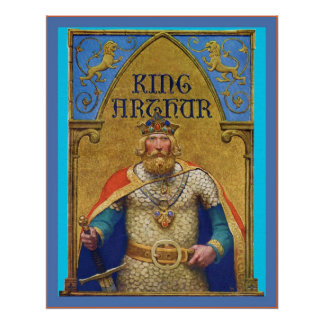 King Arthur ~ Vintage Book Cover Poster