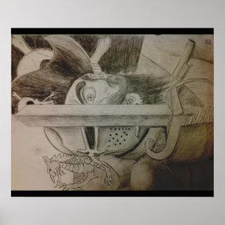 King Arthur VS. Black Beard Poster