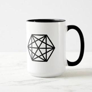 King (+) / Black 444 ml  Ringer Combo Mug