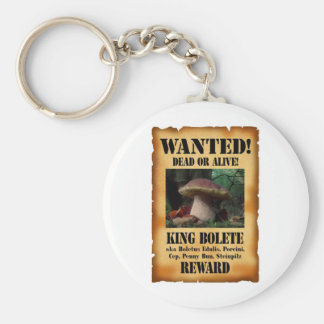 King Bolete - Wanted Dead or Alive Basic Round Button Key Ring