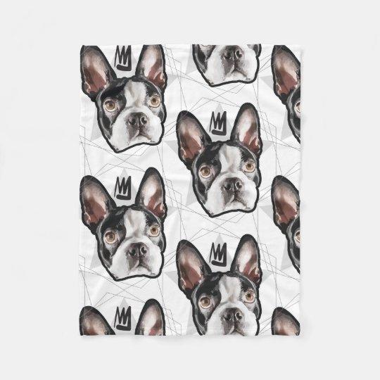 King Boston Terrier Fleece Blanket