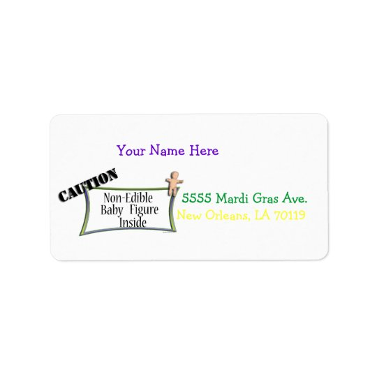 King Cake Baby Address Label