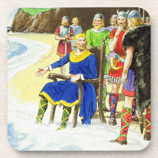 King Canute (c.995-1035) from 'Peeps into the Past Coaster