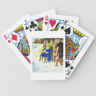King Canute (c.995-1035) from 'Peeps into the Past Poker Deck