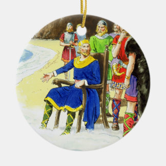 King Canute (c.995-1035) from 'Peeps into the Past Round Ceramic Decoration