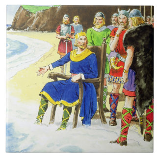 King Canute (c.995-1035) from 'Peeps into the Past Tile
