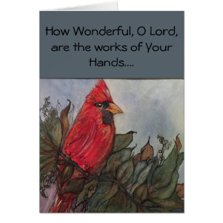 King Cardinal greeting card