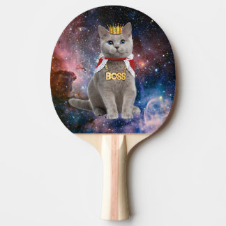 king cat in the space ping pong paddle