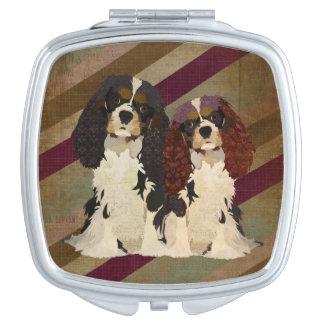 King Cavalier Spaniels Compact Mirror