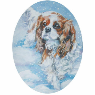 King Charles Cavalier Christmas Ornament Acrylic Cut Outs