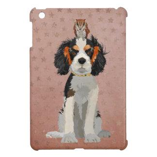 KING CHARLES CAVALIER & OWL STARS iPad MINI CASES