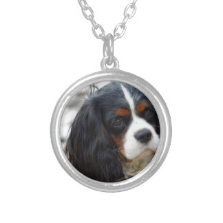 King Charles Cavalier Portrait Custom Necklace