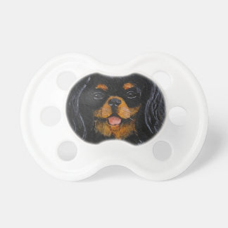 King Charles Cavalier Spaniel black and tan Pacifiers