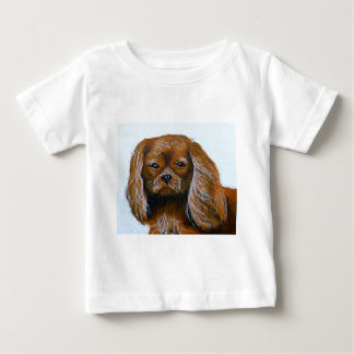 King Charles Cavalier Spaniel red Baby T-Shirt