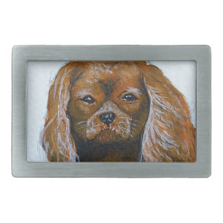 King Charles Cavalier Spaniel red Belt Buckle