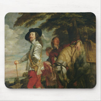 King Charles I  of England out Hunting, c.1635 Mouse Mat