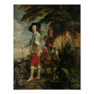 King Charles I  of England out Hunting, c.1635 Poster