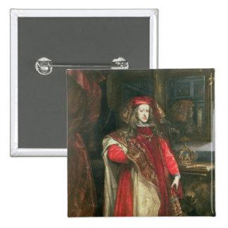 King Charles II of Spain 15 Cm Square Badge