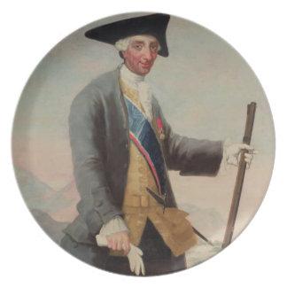 King Charles III (1716-88) as a Huntsman, 1786/88 Plates