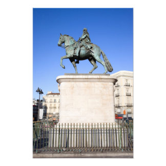 King Charles III Monument in Madrid Art Photo