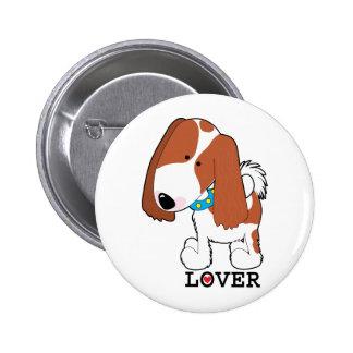 King Charles Lover 6 Cm Round Badge