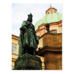King Charles statue, Prague Postcard