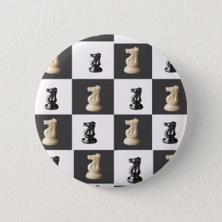 King Chess Board 6 Cm Round Badge
