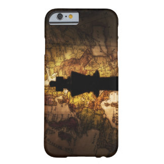 King chess piece on old world map barely there iPhone 6 case