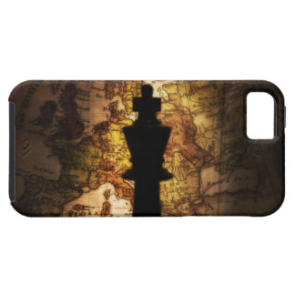 King chess piece on old world map case for the iPhone 5