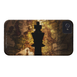 King chess piece on old world map iPhone 4 Case-Mate cases