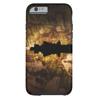 King chess piece on old world map tough iPhone 6 case