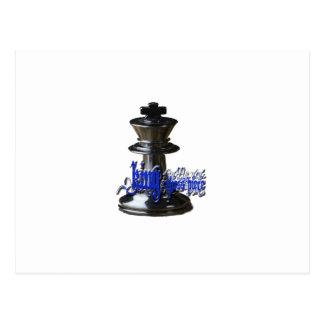King Chess Piece Postcard
