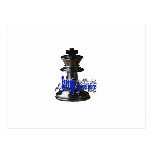King Chess Piece Post Card