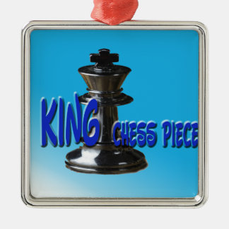 King Chess Piece With Background Christmas Ornament