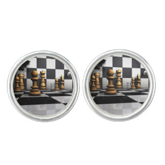 King Chess Play Cufflinks