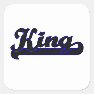 King Classic Job Design Square Sticker