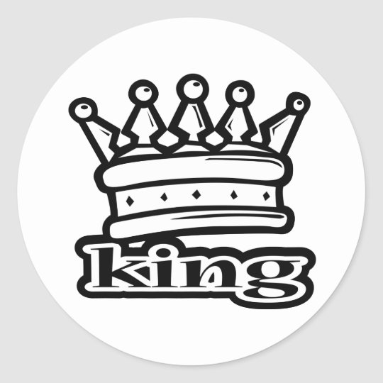King Classic Round Sticker