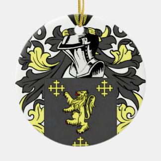 King Coat of Arms Round Ceramic Decoration