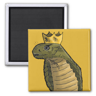 King Cobra Magnet | Funny Snake with a crown comic