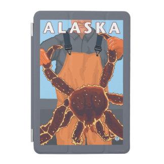 King Crab and Fisherman Vintage Travel Poster iPad Mini Cover
