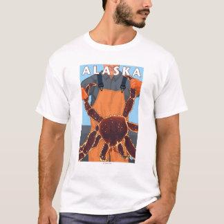 King Crab and Fisherman Vintage Travel Poster T-Shirt